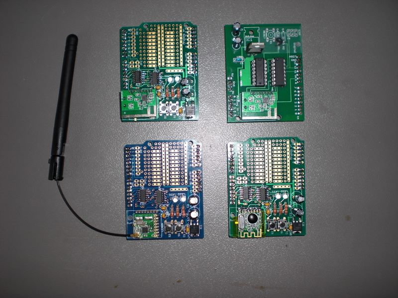 4 iterations of the CC2500 shield.