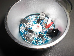 The RGB LED lamp internals.