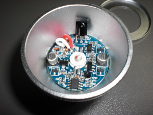 The RGB LED lamp internals.