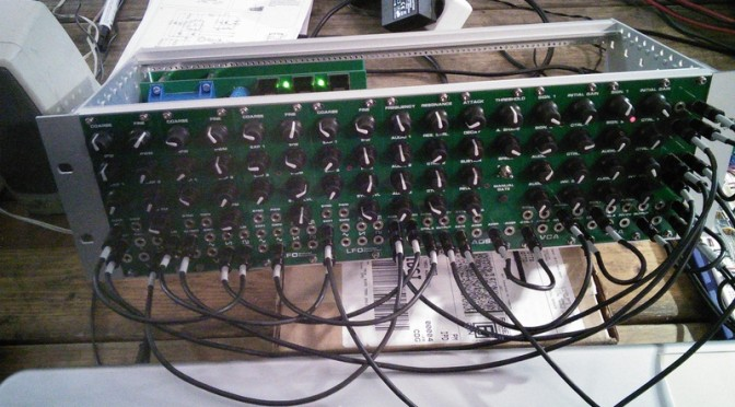 Someone built a Modular Analog Synth